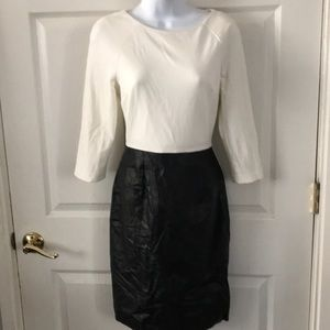 Calvin Klein Long Sleeve Faux Leather Dress